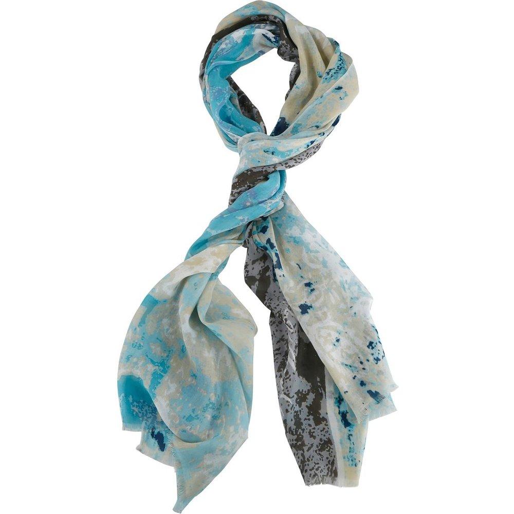 6d068f51fd8 Echarpe ete imprimee taches turquoise - CARNET DE VOL - Shopsquare