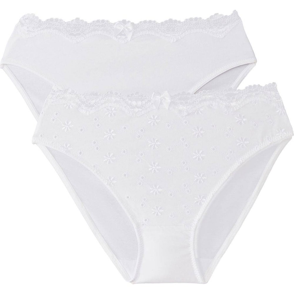Lot de 2 slips en coton brodé - LA REDOUTE COLLECTIONS - Modalova