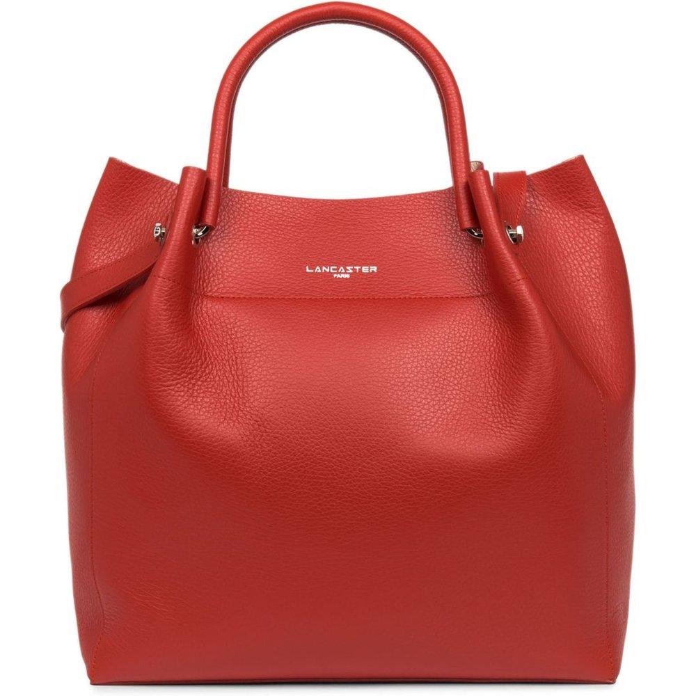 Grand sac cabas épaule FOULONNÉ DOUBLE - Lancaster - Modalova