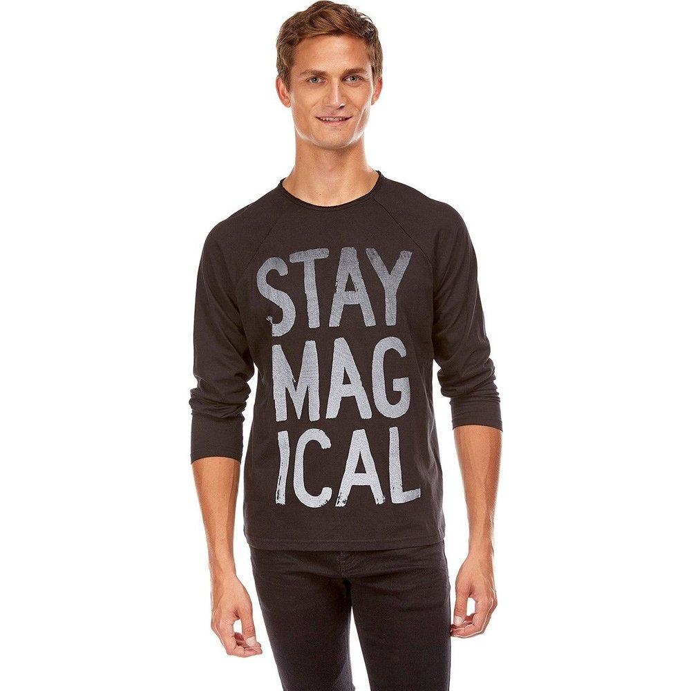 Tee shirt manches longues slogan - BEST MOUNTAIN - Modalova