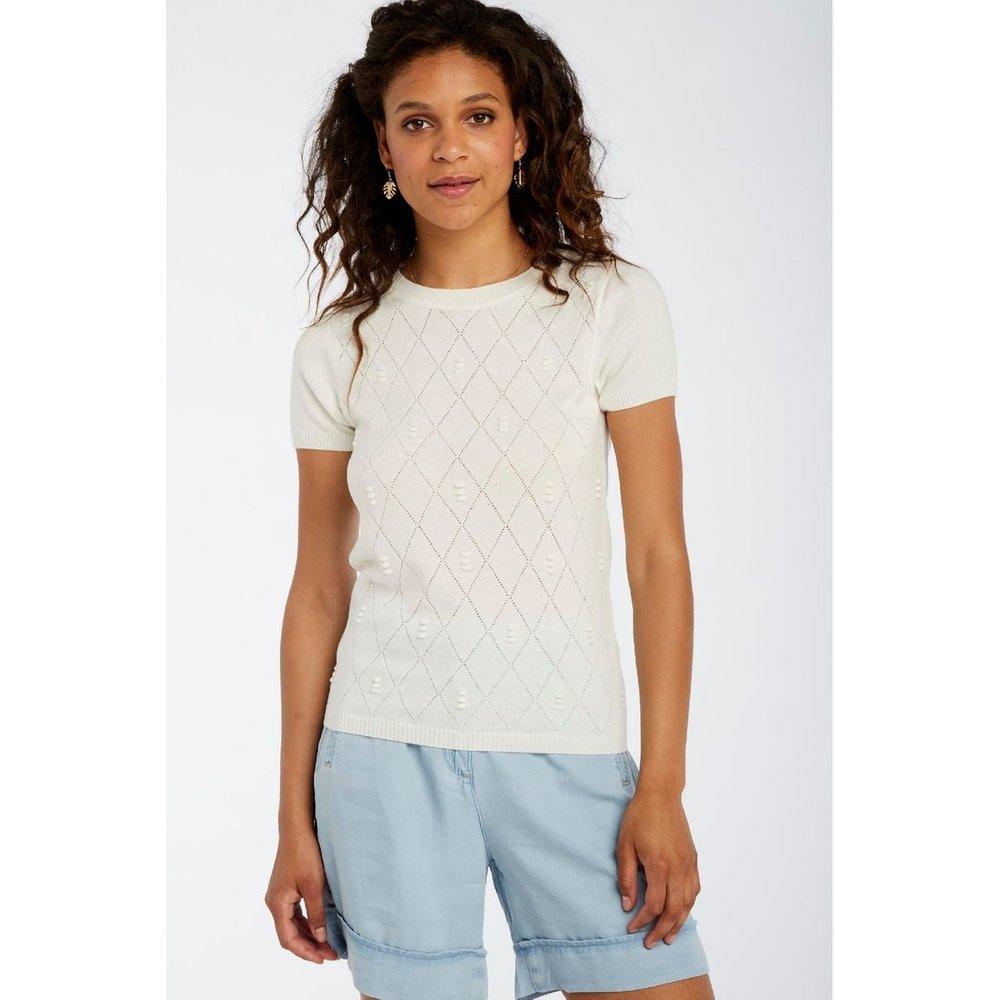 Pull manches courtes tricotage fantaisie - Naf Naf - Modalova