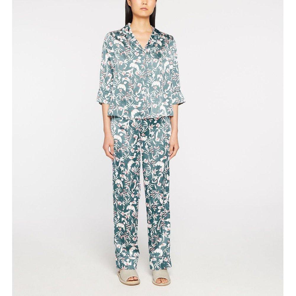 Pyjama Avalentine Fluide Satiné Imprimé Japonisant - GALERIES LAFAYETTE - Modalova