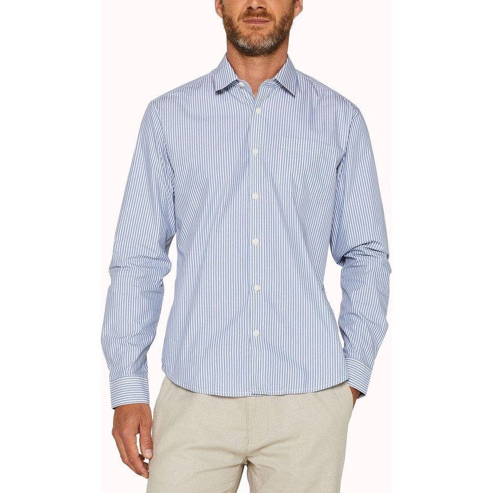 Chemise droite à rayures en coton stretch - Esprit - Modalova