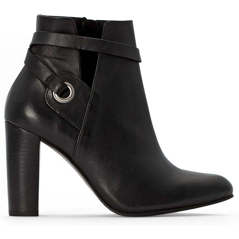 Boots cuir zippées à talon - LA REDOUTE COLLECTIONS - Modalova