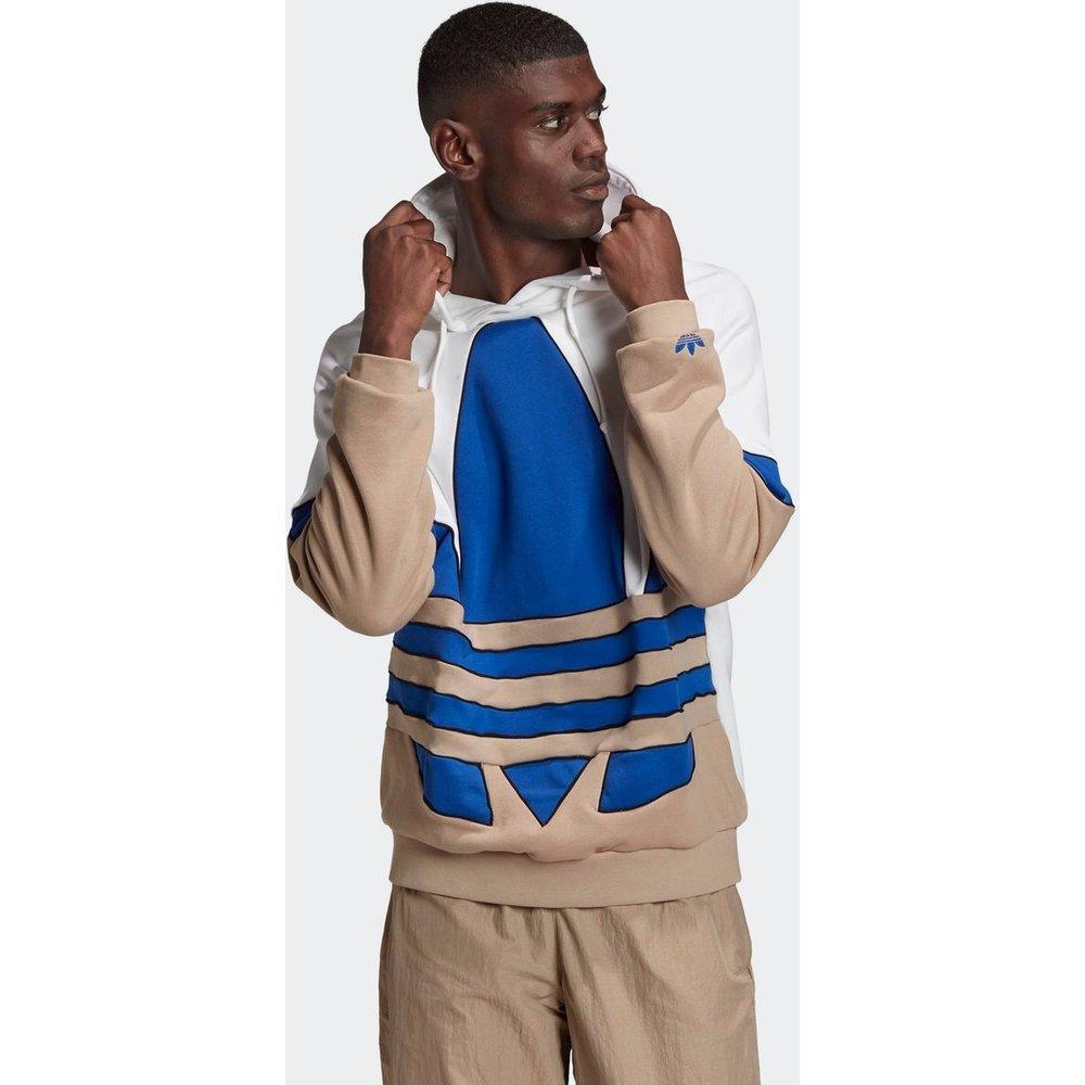 Sweat-shirt à capuche Big Trefoil Outline Colorblock - adidas Originals - Modalova