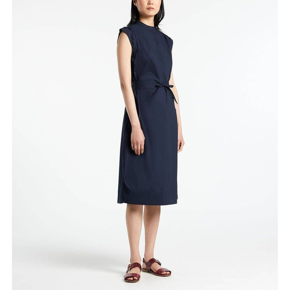 Robe Gardenia Mi Longue Droite Sans Manches Coton - GALERIES LAFAYETTE - Modalova