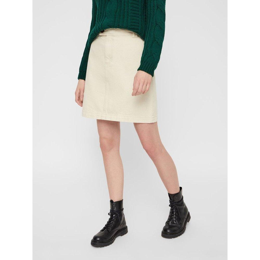 Jupe en jean Taille haute - Pieces - Modalova