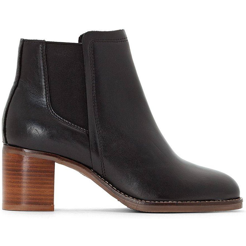 Boots chelsea cuir semelle effet crêpe - LA REDOUTE COLLECTIONS - Modalova