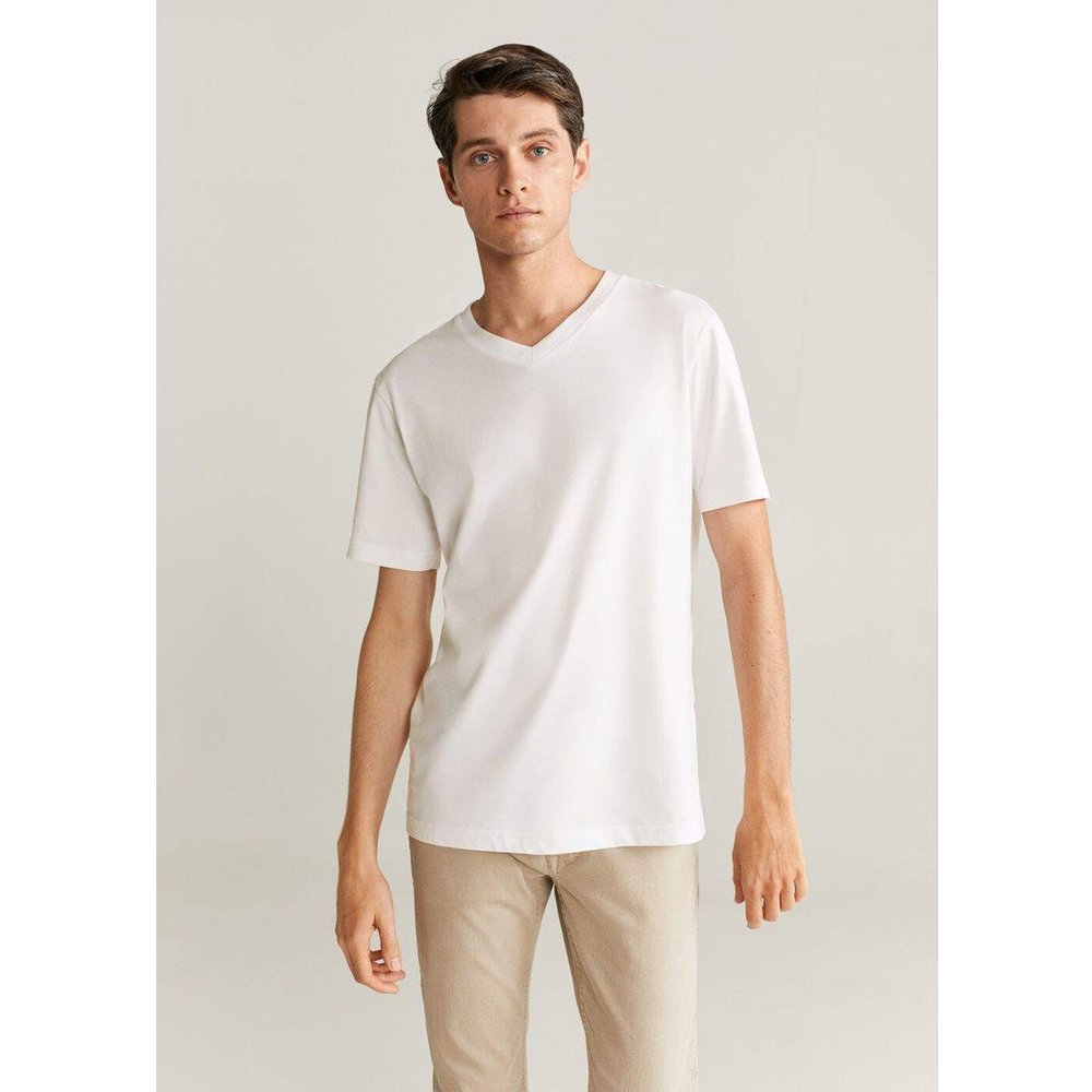T-shirt 100% coton durable - mango man - Modalova