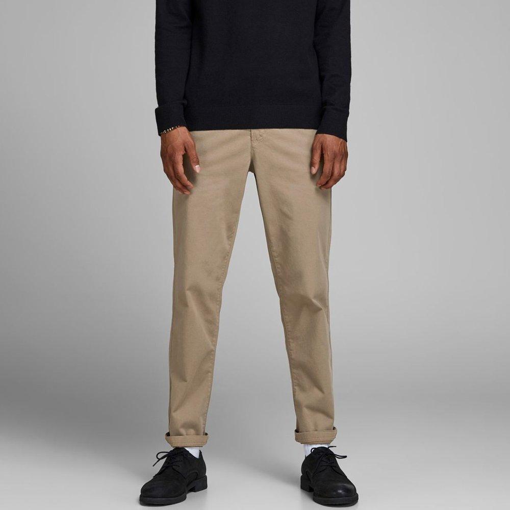 Pantalon chino droit stretch avec ceinture - jack & jones - Modalova