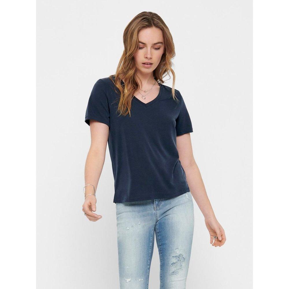 T-Shirt Col en V - Only - Modalova