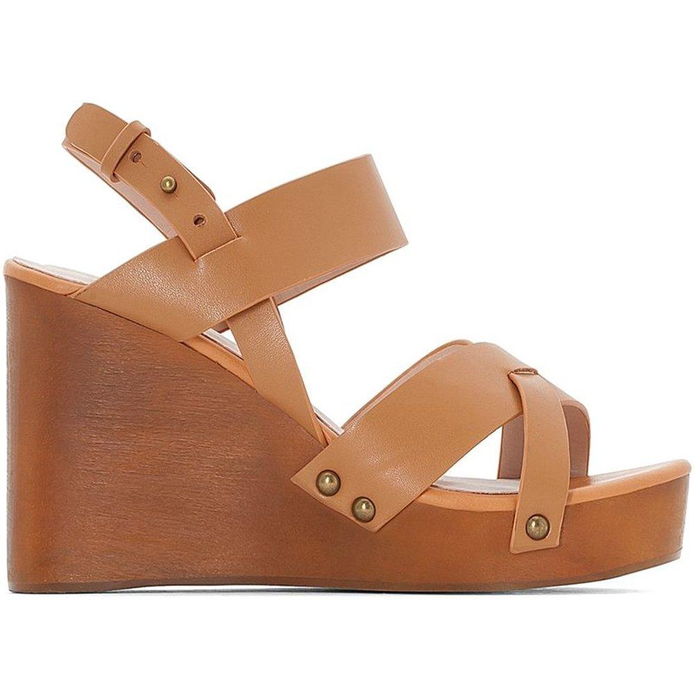 Sandales cuir compensé effet bois - LA REDOUTE COLLECTIONS - Modalova
