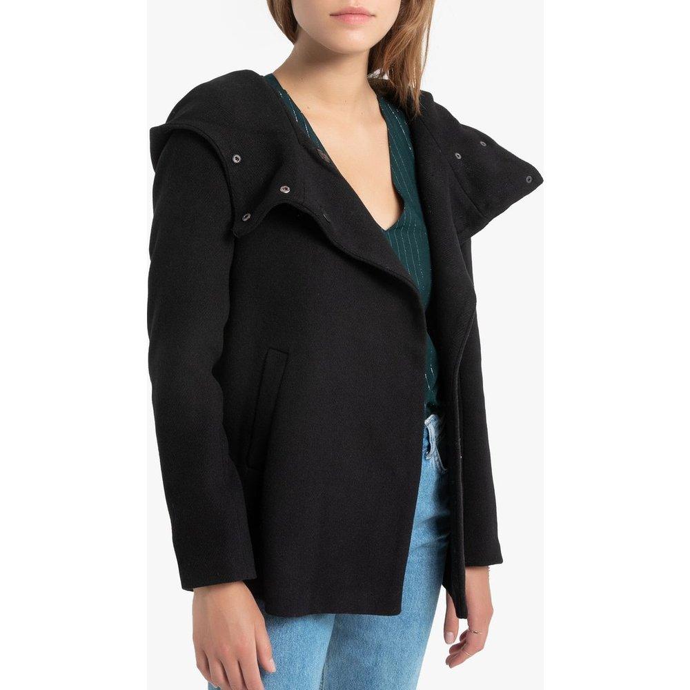 Manteau mi-long à capuche, col montant - Only - Modalova