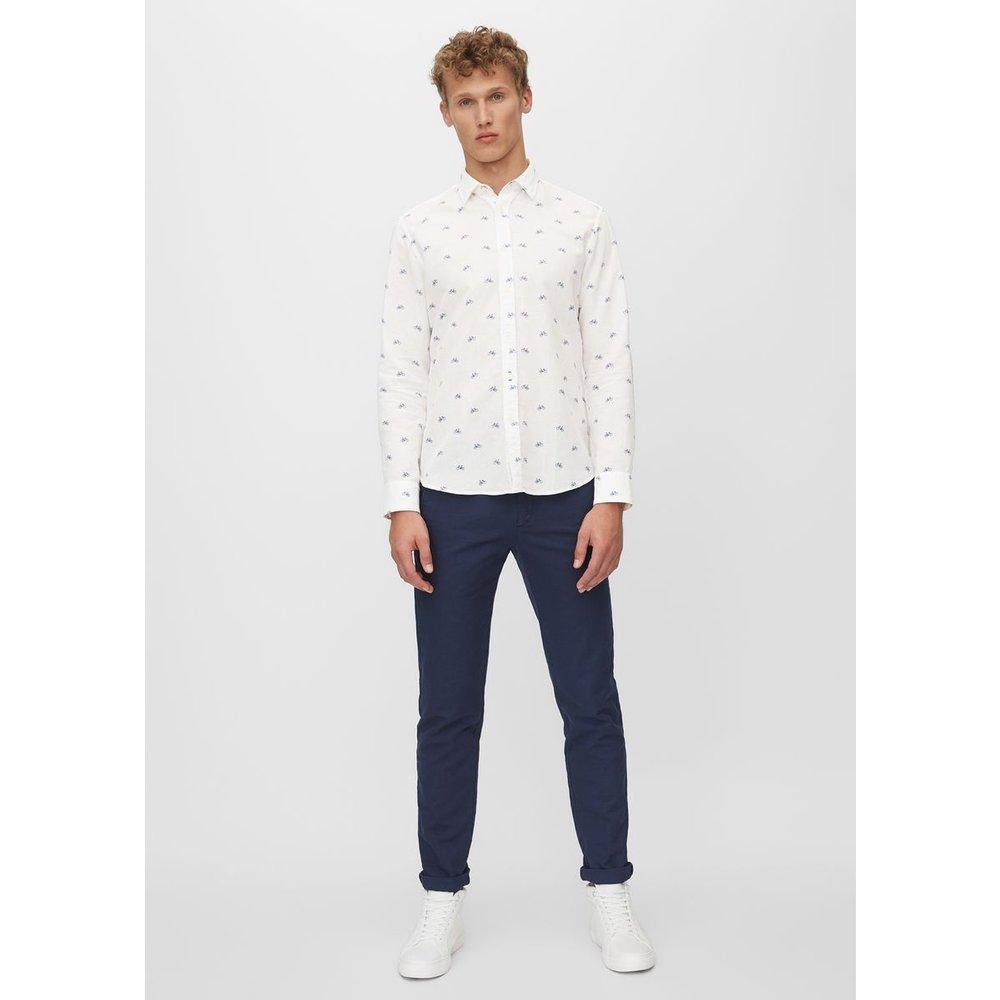 Chemise à manches longues de coupe regular en mélange de coton et de lin - Marc O'Polo - Modalova