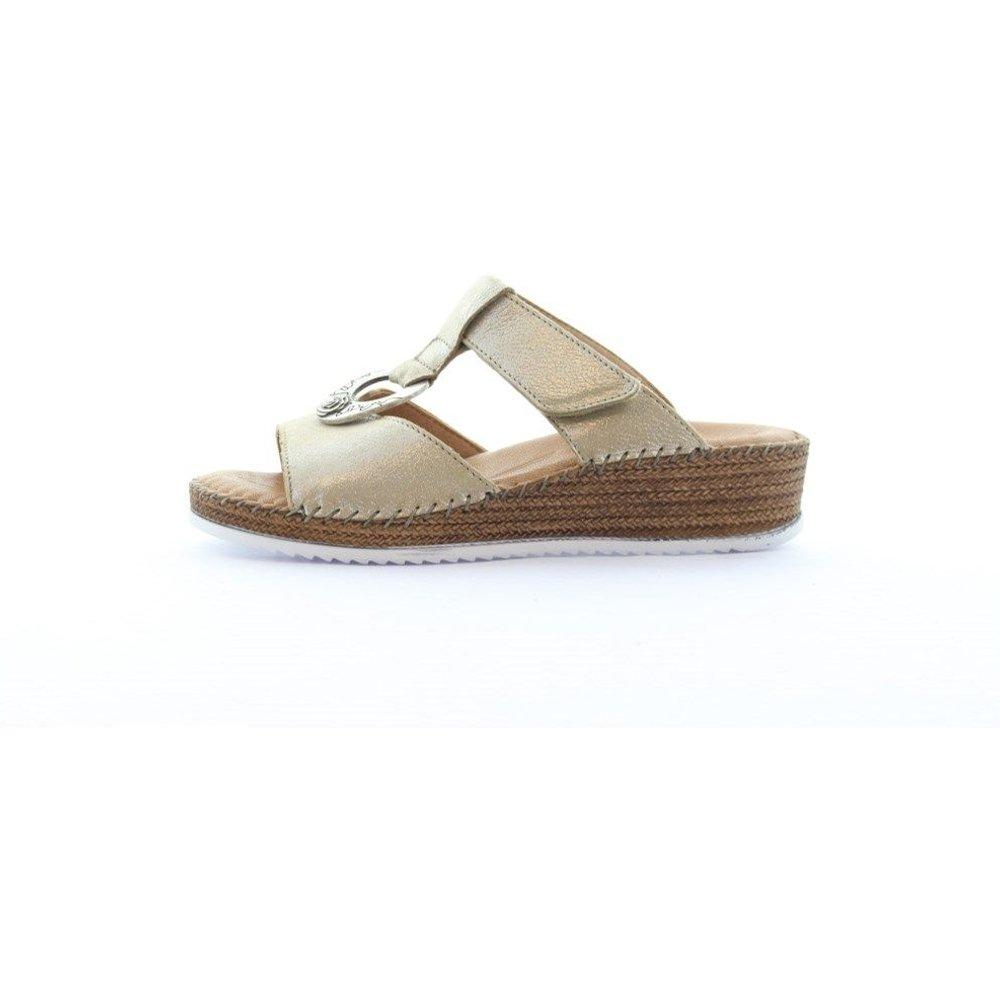 Sandales mules compensées cuir vernis AILYS - Salamander - Modalova