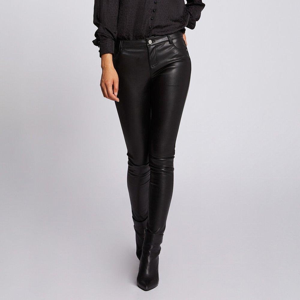 Pantalon slim simili - Morgan - Modalova