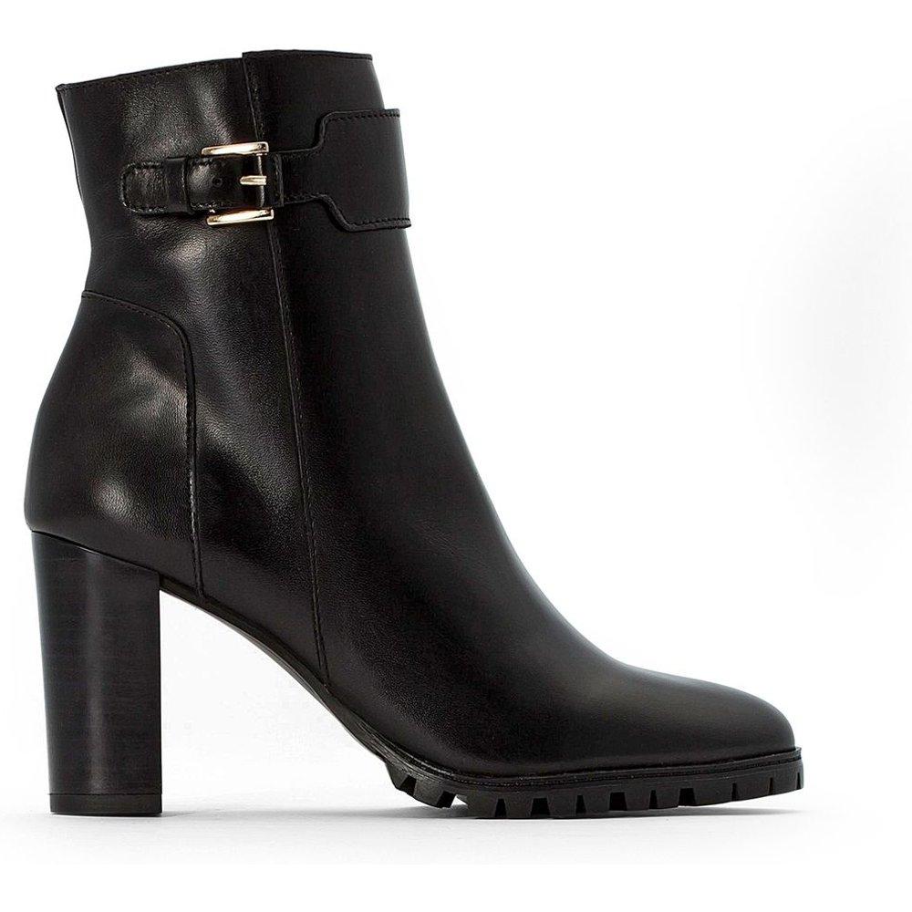 Boots cuir, semelle crantée - LA REDOUTE COLLECTIONS - Modalova