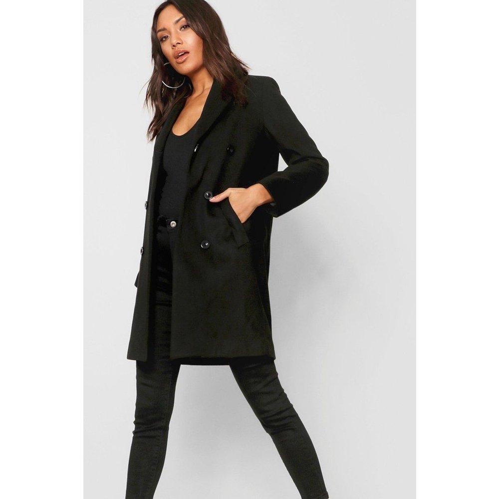 Manteau mi-long col montant - BOOHOO - Modalova