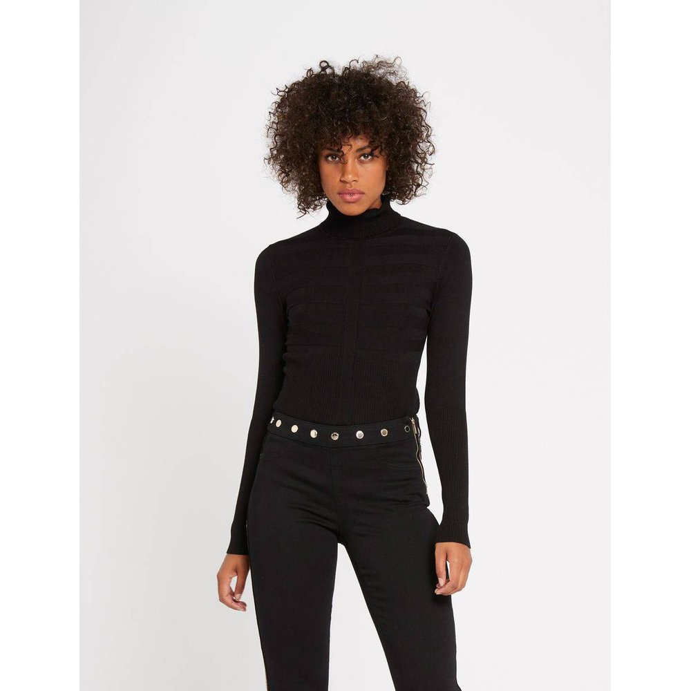 Pantalon slim taille standard à boutons - Morgan - Modalova