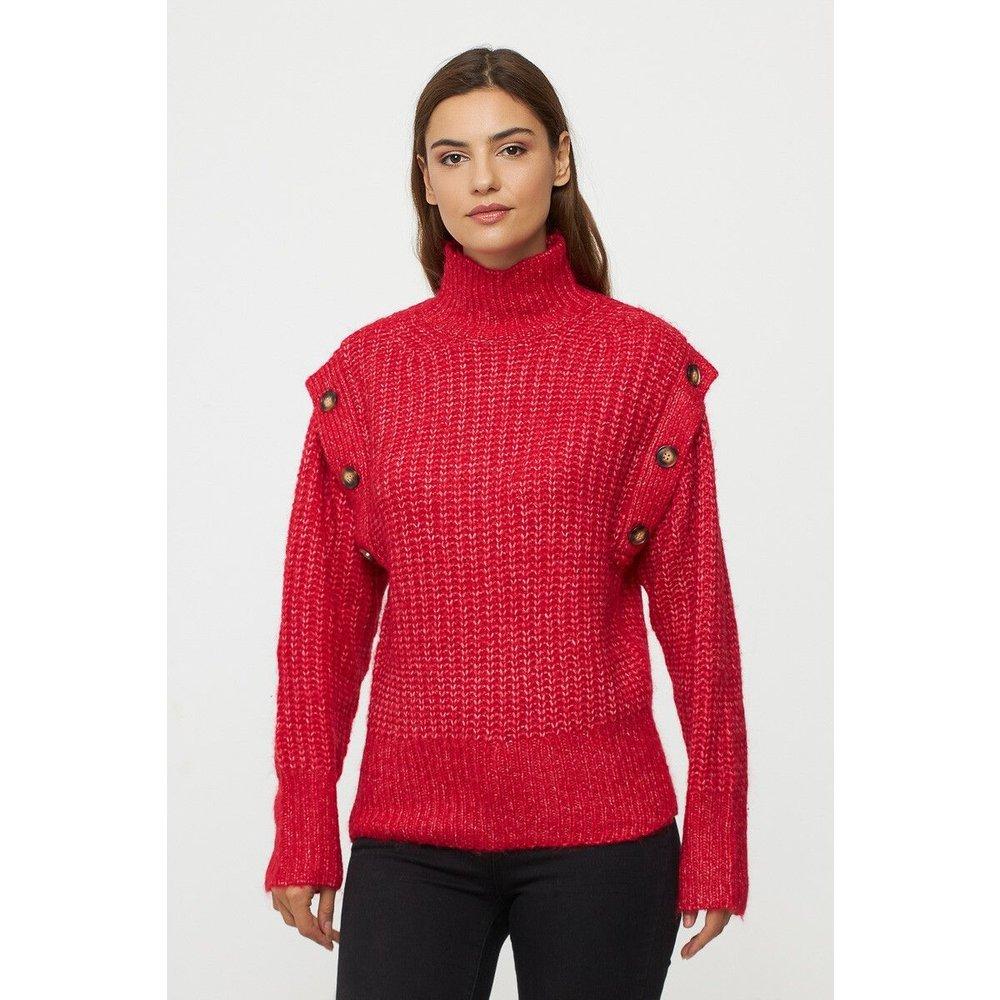 Pull en laine manches boutonnées - BEST MOUNTAIN - Modalova