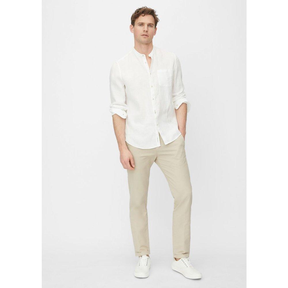 Chemise à manches longues de coupe shaped matière en pur lin de qualité supérieure - Marc O'Polo - Modalova