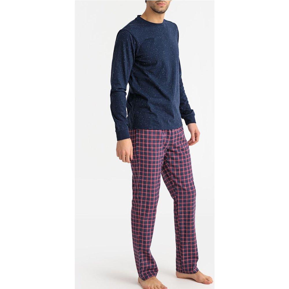 Pyjama manches longues avec pantalon à carreaux - LA REDOUTE COLLECTIONS - Modalova