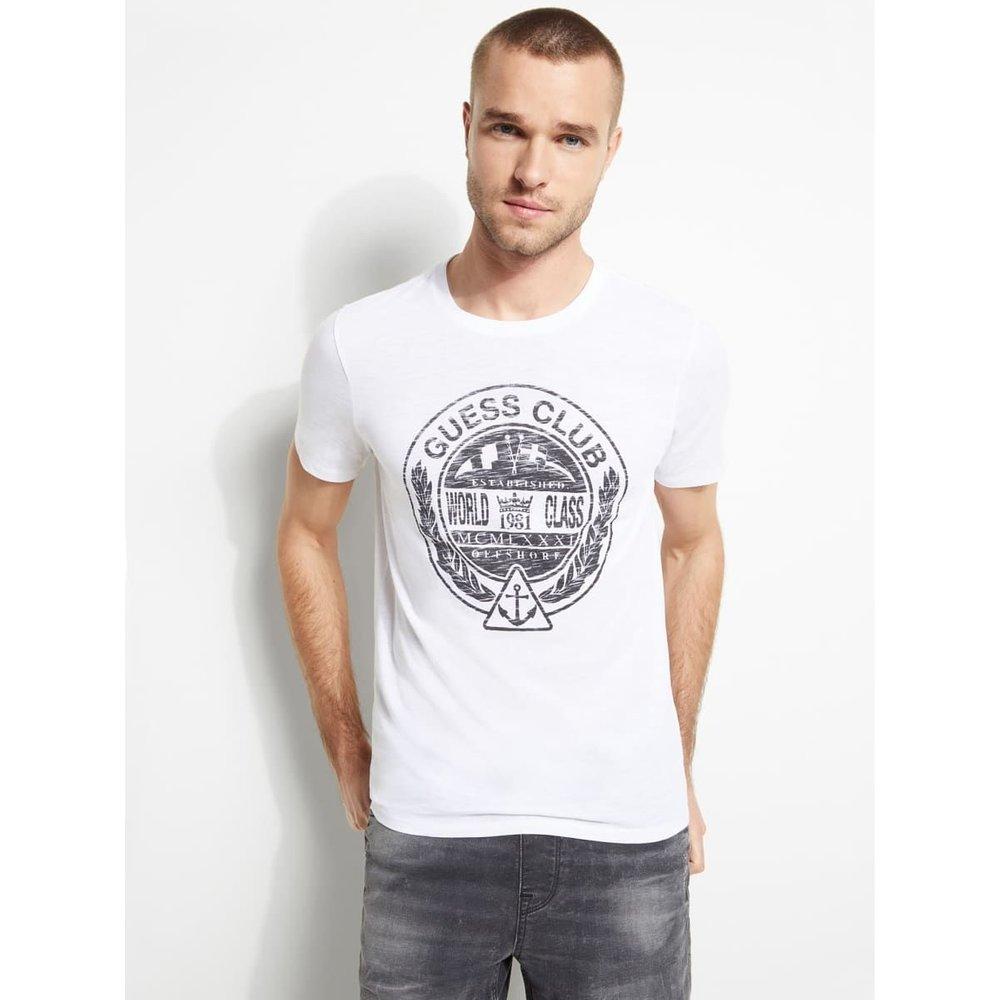 T-Shirt Logo Sur Le Devant - Guess - Modalova