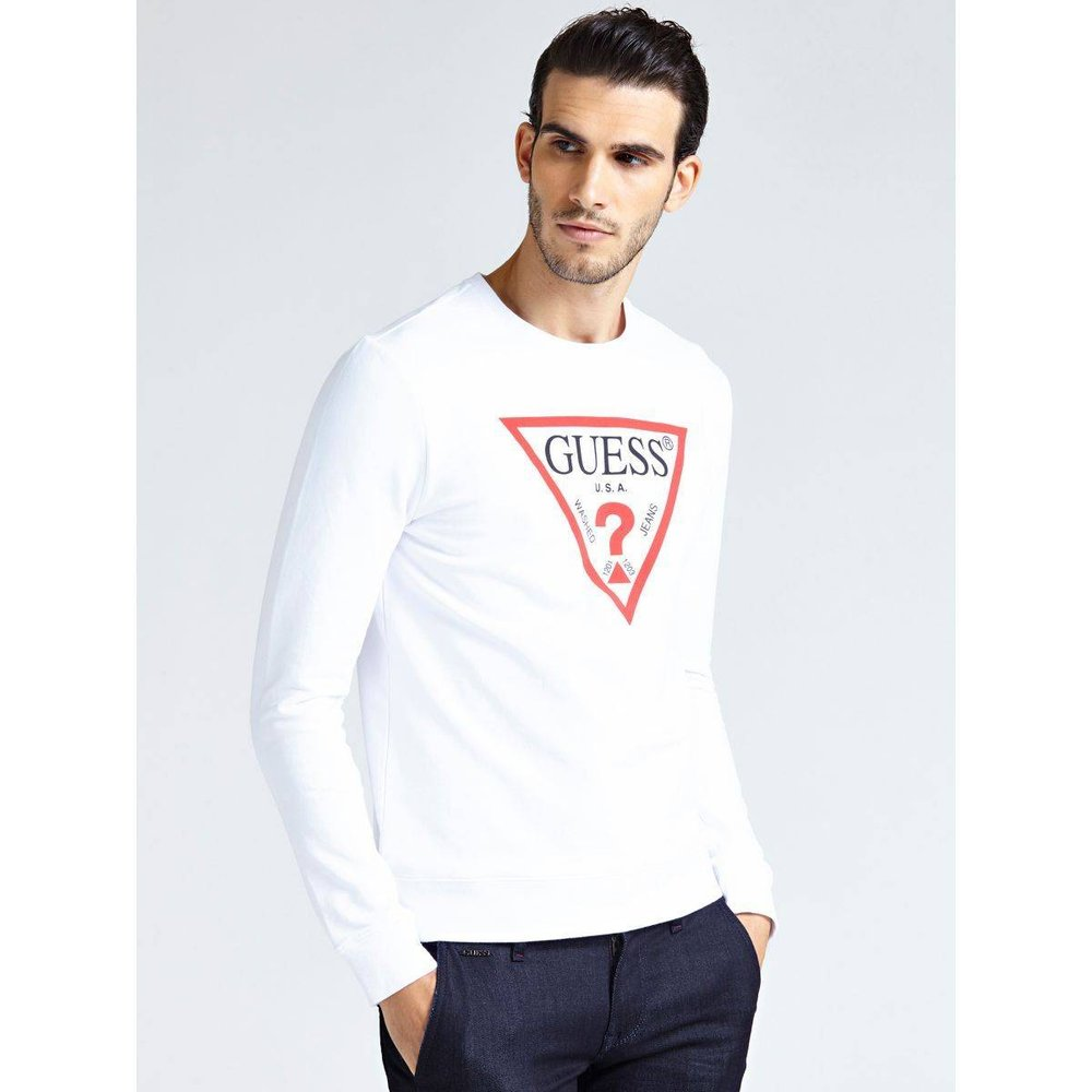 Sweat-shirt Logo Triangulaire - Guess - Modalova