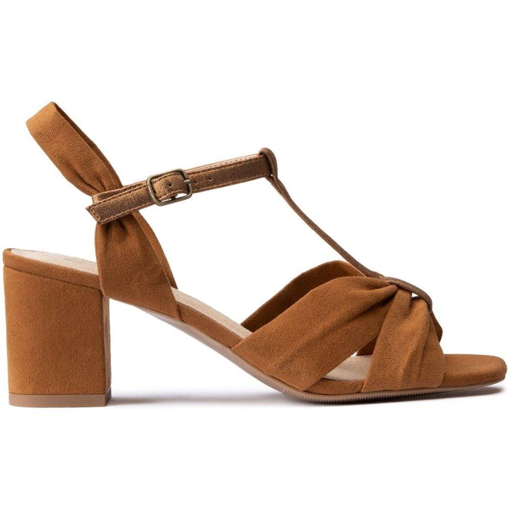 Sandales drappées talon large - LA REDOUTE COLLECTIONS - Modalova