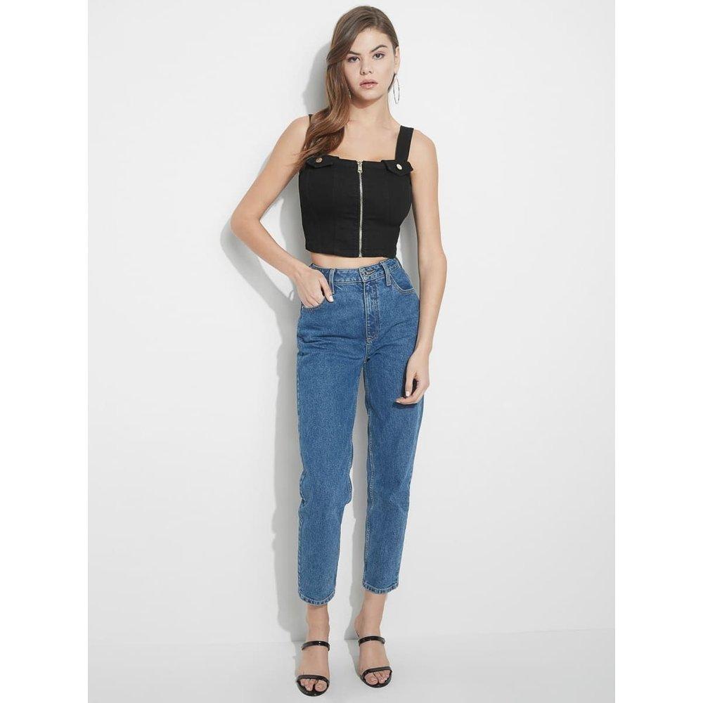 Crop Top Jeans Zip - Guess - Modalova