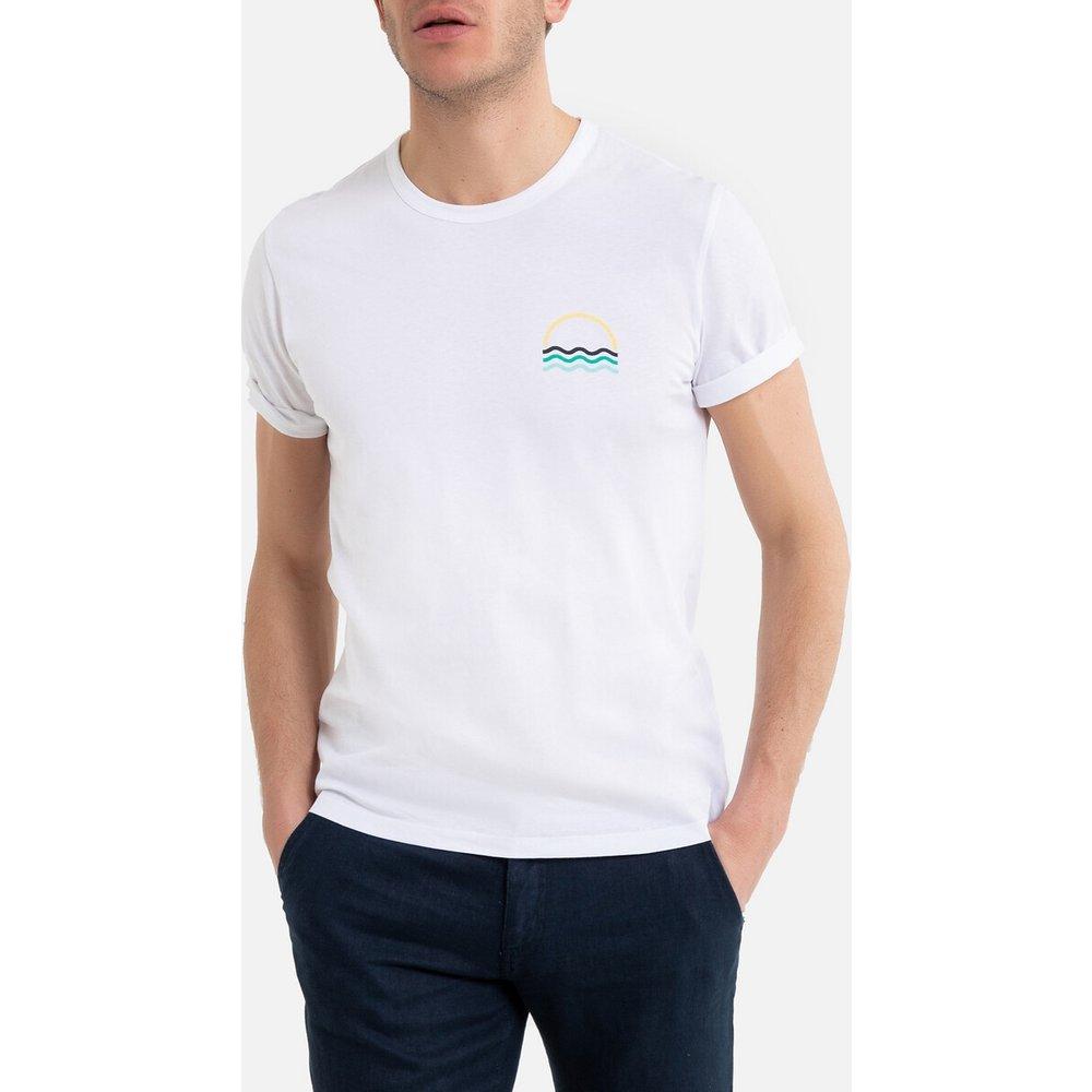 T-shirt col rond manches courtes imprimé poitrine - LA REDOUTE COLLECTIONS - Modalova