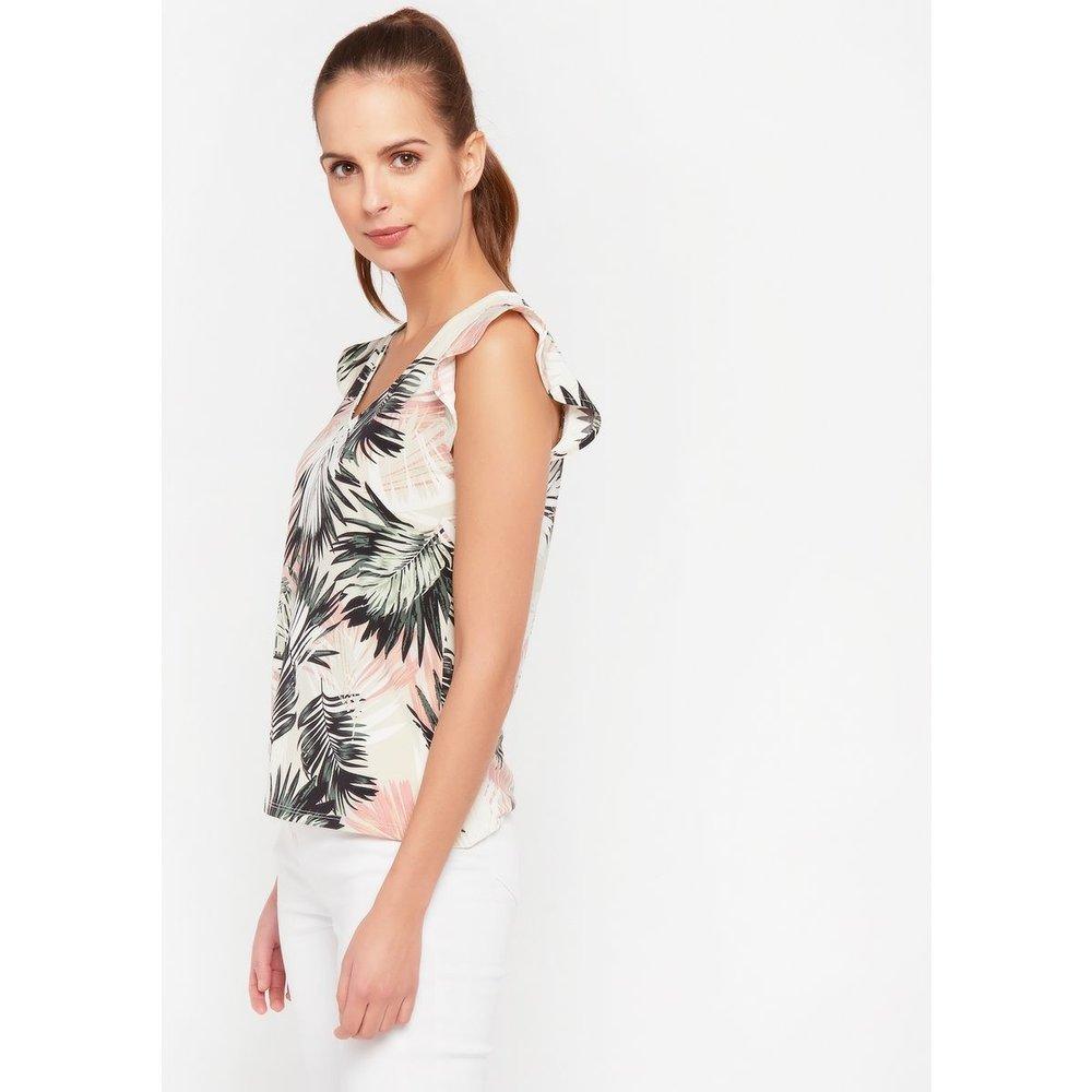 T-shirt manche papillon imprimé floral - LOLALIZA - Modalova
