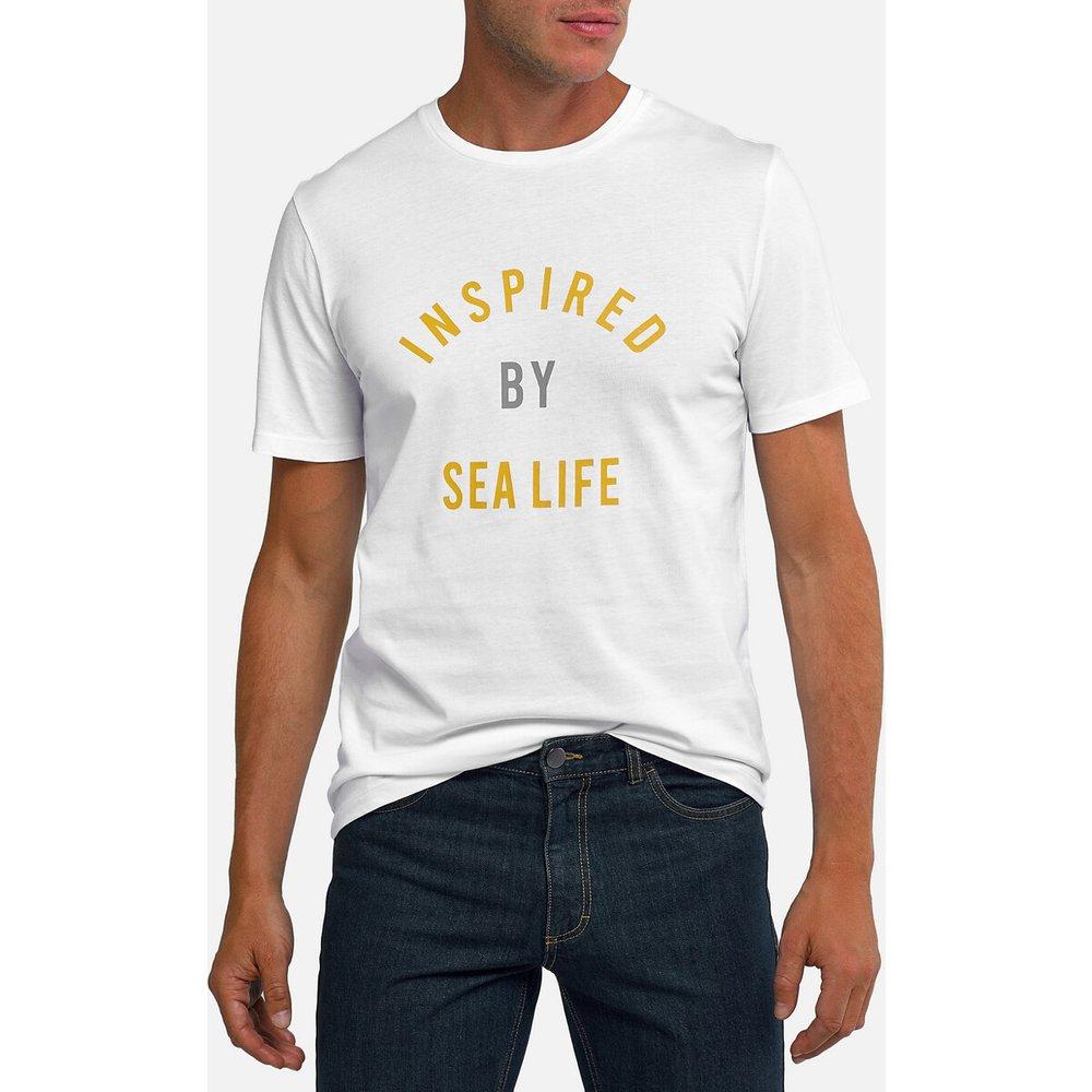 T-shirt col rond manches courtes imprimé devant - LA REDOUTE COLLECTIONS - Modalova