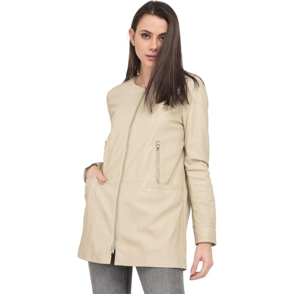 Manteau mi-long en cuir SEVERINE - OAKWOOD - Modalova