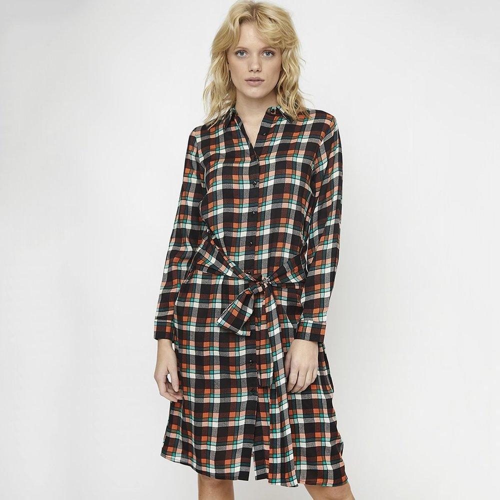 Robe-chemise longueur genou carreaux ceinture - COMPANIA FANTASTICA - Modalova