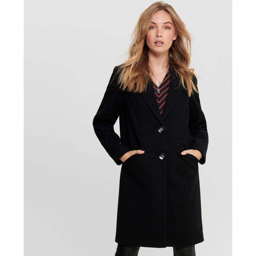 Manteau long droit col tailleur - Only - Modalova
