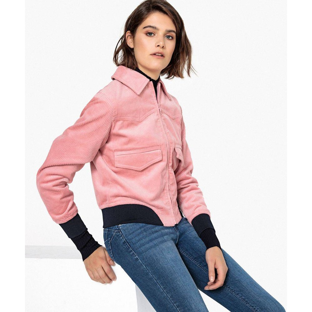 Blouson en velours bicolore - LA REDOUTE COLLECTIONS - Modalova