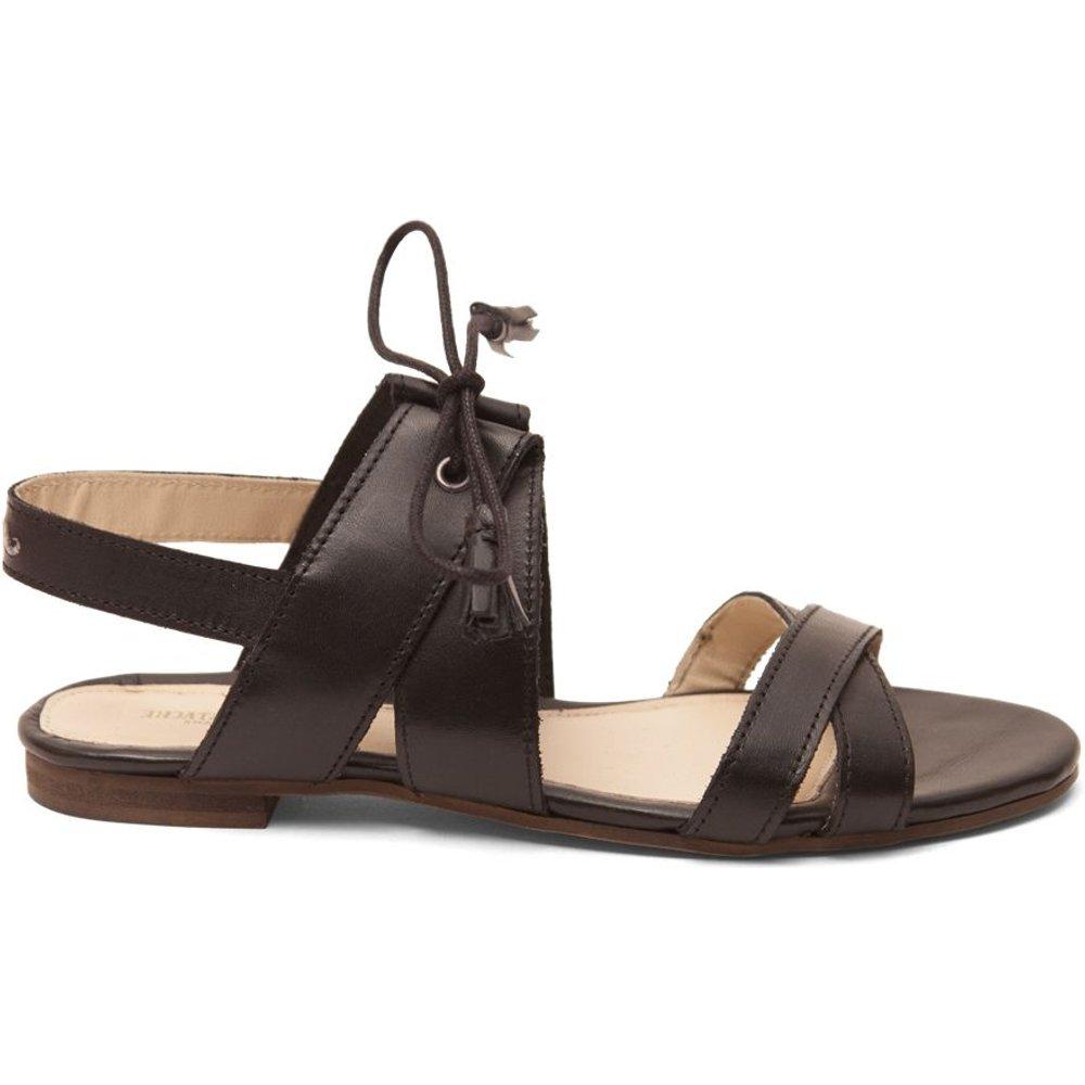 Sandales cuir plates Suzanne - M. MOUSTACHE - Modalova
