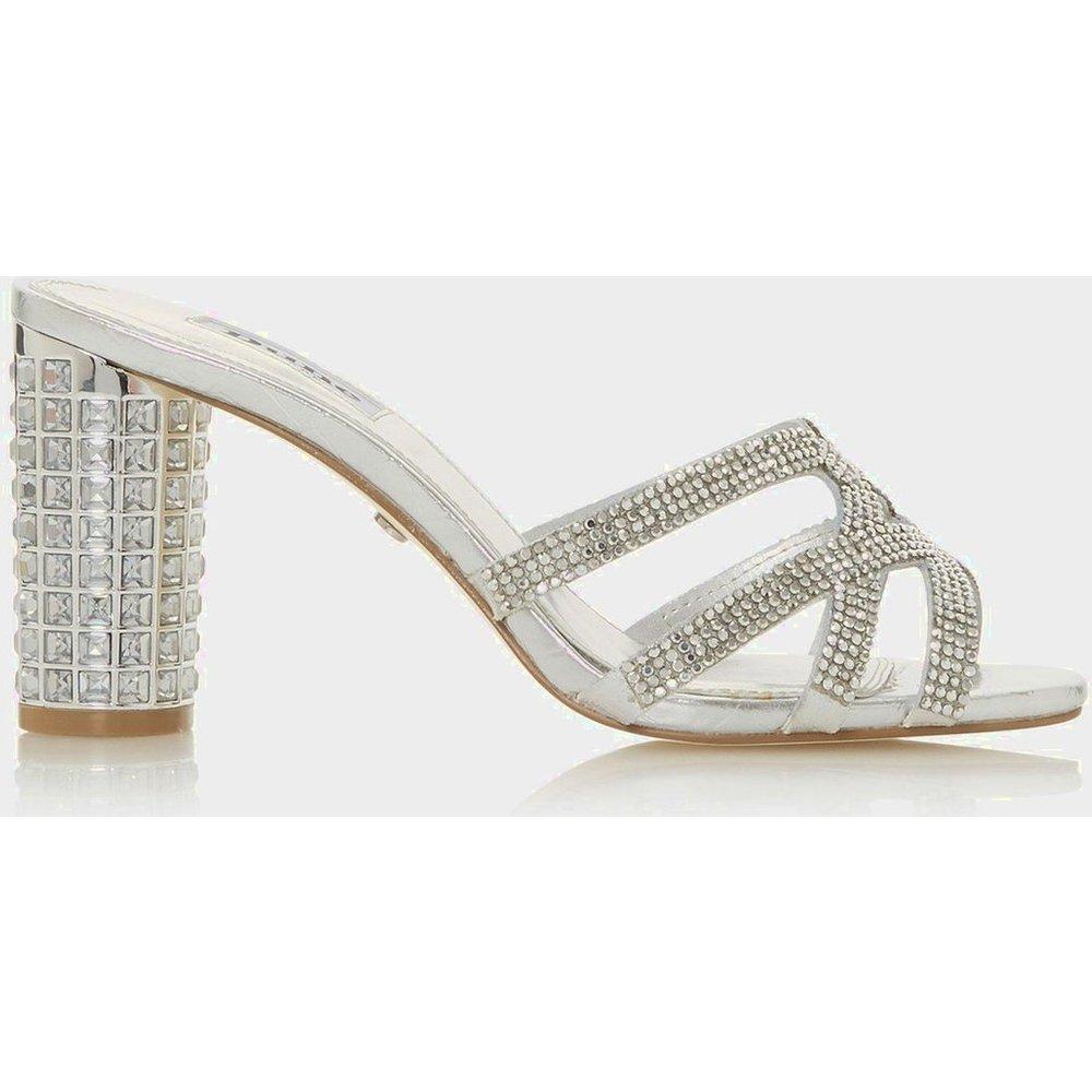 Sandales à talons carrés et strass - MARIDA - DUNE LONDON - Modalova