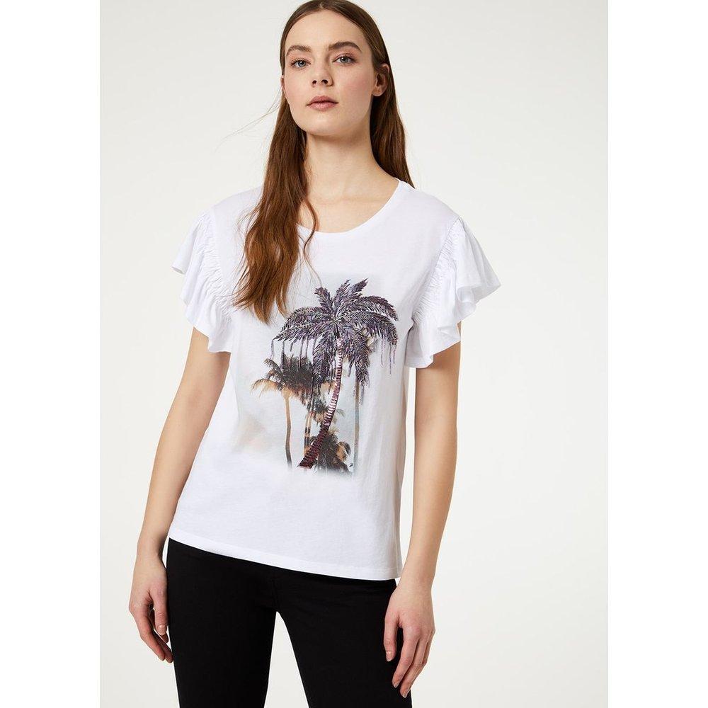 T-shirt avec volants - LIU JO - Modalova