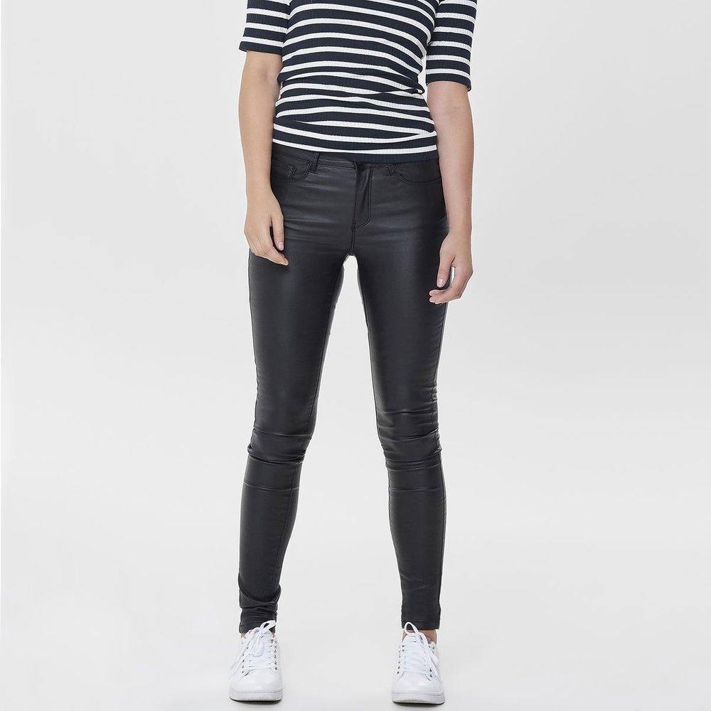 Pantalon slim enduit 5 poches longueur 34 - Only - Modalova
