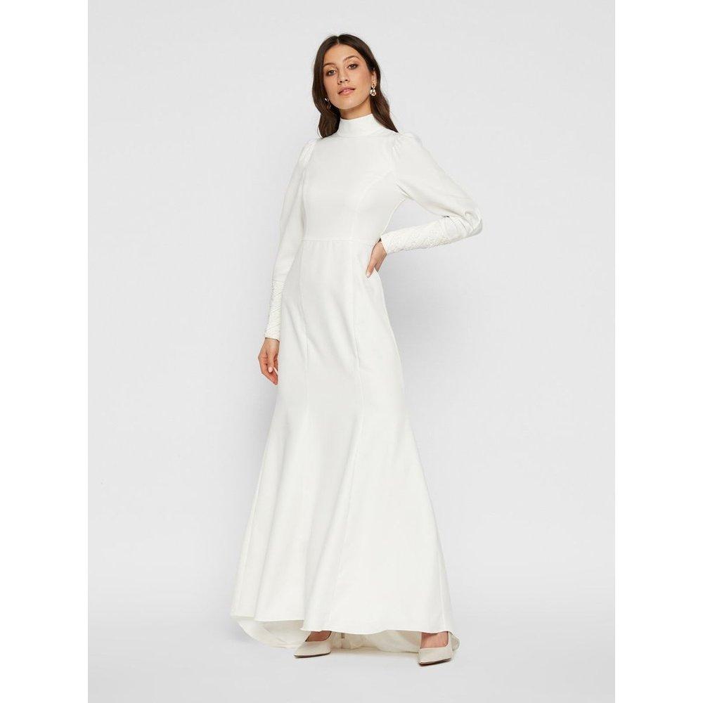 Robe de mariée Coupe sirène, découpe dans le dos - YAS - Modalova
