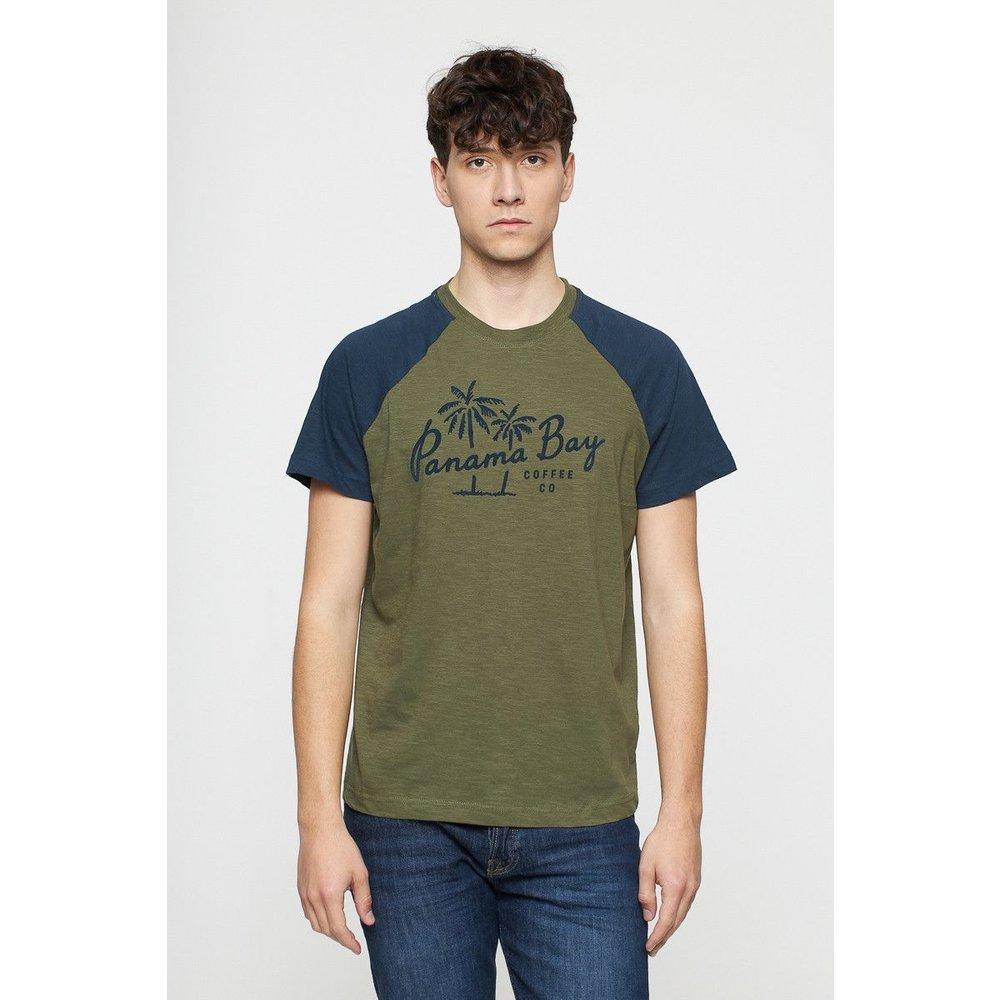 T-shirt imprimé manches raglan - BEST MOUNTAIN - Modalova