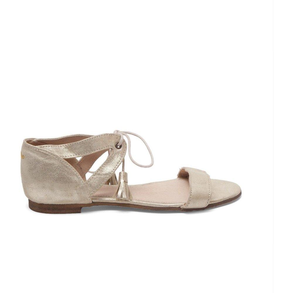 Sandales cuir plates Juliette - M. MOUSTACHE - Modalova