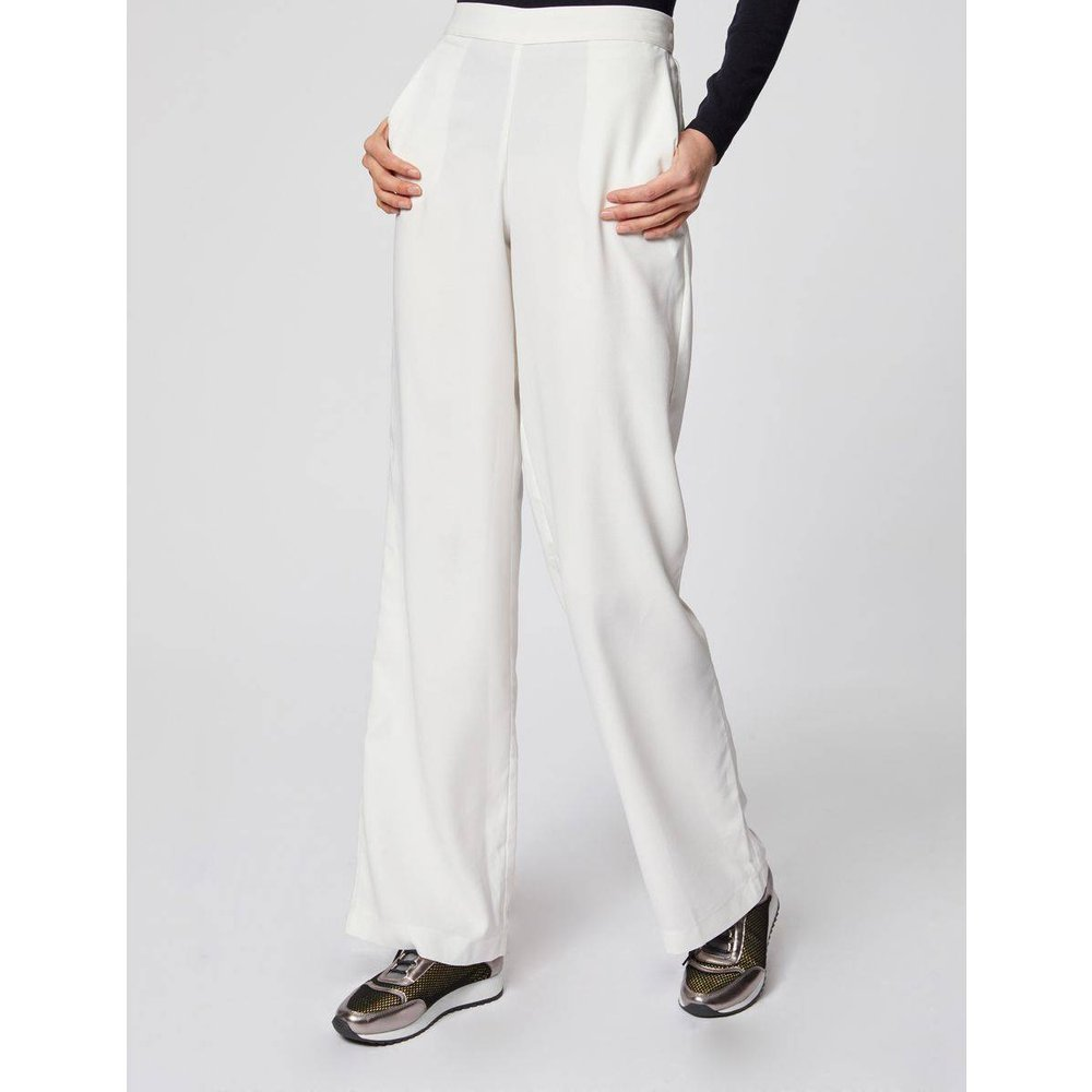 Pantalon droit fluide à taille haute - Morgan - Modalova