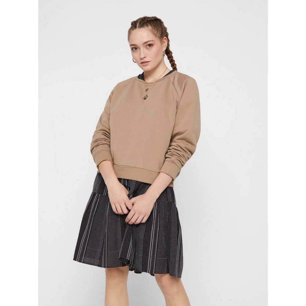 Sweat-shirt Col rond coton - Pieces - Modalova