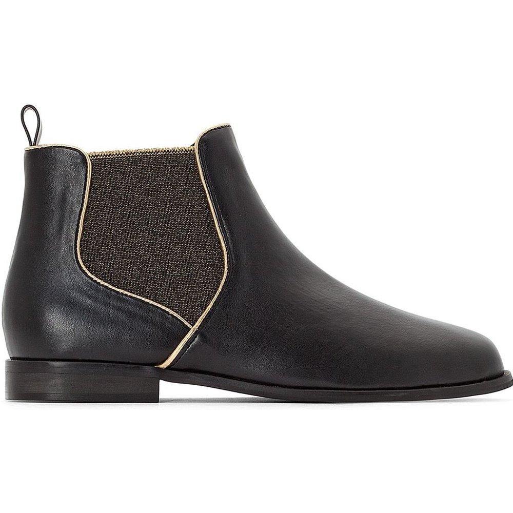 Boots chelsea à élastique doré - LA REDOUTE COLLECTIONS - Modalova
