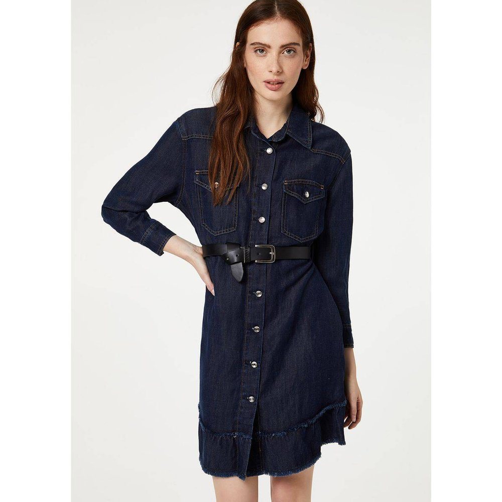 Robe en jean avec ceinture - LIU JO - Modalova