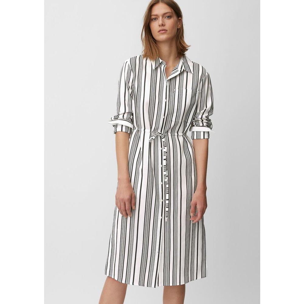 Robe-chemise en viscose mélangée teintée dans le fil - Marc O'Polo - Modalova