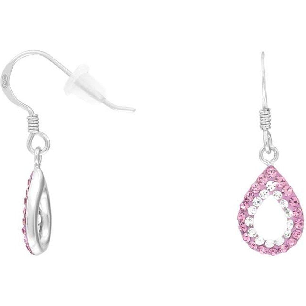 Boucles d'oreilles en Argent 925/1000 et Cristal - CLEOR - Modalova